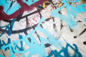 Graffiti u obchodních domů