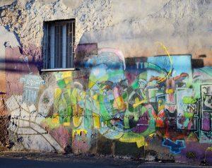 Graffiti na antigraffitové ochraně