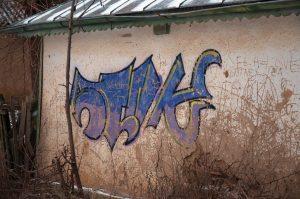 Graffiti na našem venkovském domku
