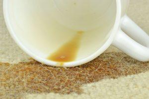 jak vyčistit politý koberec