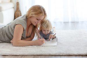 děti a koberec