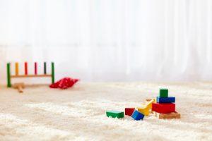 Koberec v dětském pokoji musí být čistý