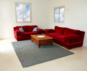 koberec v obývacím pokoji