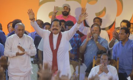 Sri Lankans March in Support of Strongman Mahinda Rajapaksa's Return to Power
