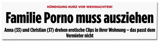 """""""Familie Porno"""" bei Bild.de, """"Familie Porno muss ausziehen"""""""