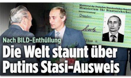 """""""Bild"""" macht Wladimir Putin zum Stasi-Mitarbeiter"""