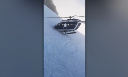 Video Captures Helicopter Pilot's Daring Mountain Rescue on a Steep Slope