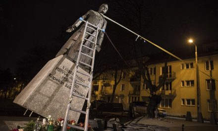 Polish Activists Pull Down Statue of Catholic Priest Accused of Abuse