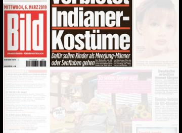 """Indianer-Kostüme an Fasching: """"Bild"""" verwechselt """"bitten"""" und """"verbieten"""""""