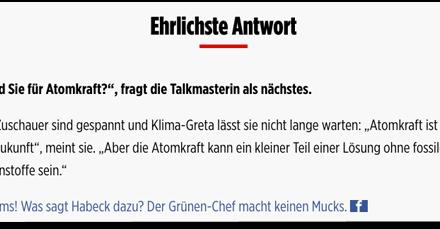 Bild.de macht Greta Thunberg zur Atomkraft-Aktivistin