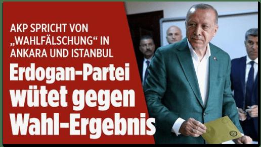 """Bild.de schreibt """"Erdogan-Partei"""" in Izmir an die Ex-Macht"""