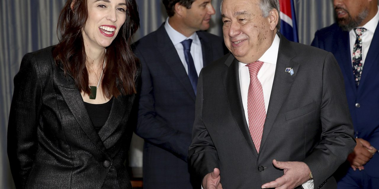 U.N. Secretary-General Joins New Zealand Prime Minister on Climate Change Trip