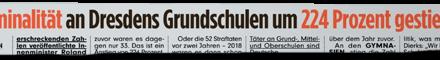 """""""Bild"""" lässt Kriminalität an Dresdens Schulen explodieren"""