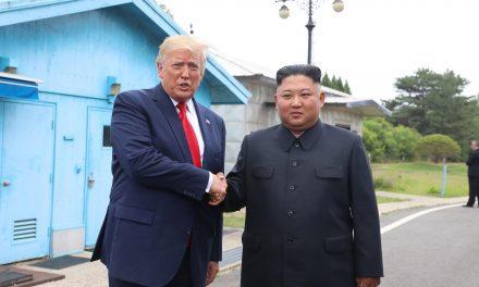 President Trump and Kim Jong Un Shake Hands at Korean DMZ at Impromptu Meeting