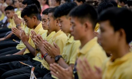 Thai Soccer Team Marks Anniversary of Cave Ordeal with a Buddhist Ceremony