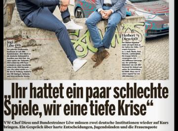 """""""Bild am Sonntag"""" schleicht mit Jogi Löw und VW werbend durch Berlin"""