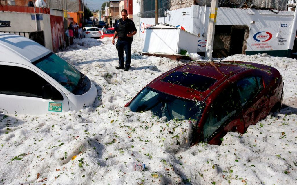 Guadalajara Covered in Feet of Ice After 'Never-Before-Seen' Hailstorm