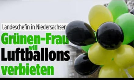 """Will eine """"Grünen-Frau"""" Luftballons verbieten?"""