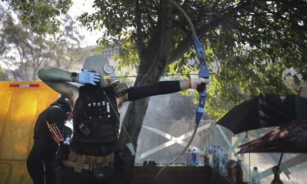 Hong Kong Protesters Fight Off Police With Fire and Arrows