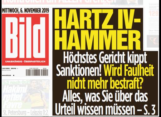 """Hartz-IV-Empfänger gibt es bei """"Bild"""" nur in faul"""