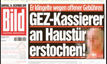 """""""Bild"""" lässt getöteten """"GEZ-Mann"""" wegen offener Gebühren klingeln"""
