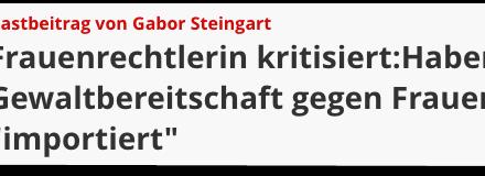 Gabor Steingarts Importgeschäft: falsches Futter für Islamhasser