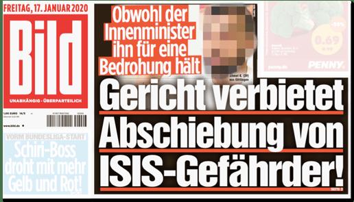 """""""ISIS-Gefährder"""" ist man, wenn """"Bild"""" das sagt"""