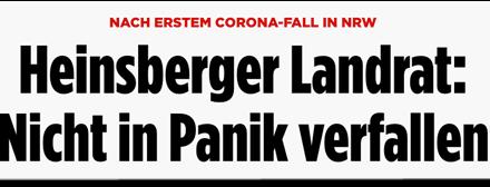 """""""Bild"""" über das Coronavirus: """"Grund für Panik? Nein."""" Panikmache? Ja!"""