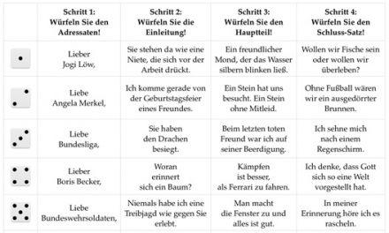 Zum Würfeln: Post von Wagner