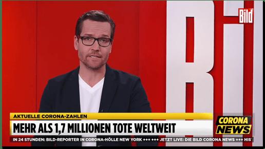"""""""Bild TV"""" behauptet: 1,7 Millionen Menschen an Coronavirus gestorben"""