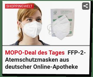 """Atemschutzmasken-Wucherpreise im """"Deal des Tages"""""""